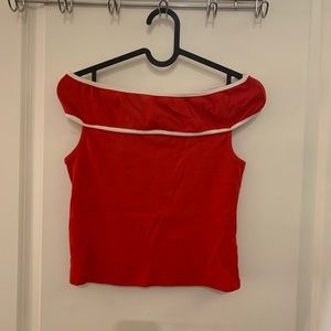 Zara Crop Top Red M